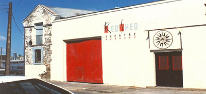 The Bakehouse building when it was known at the Red Shed theatre