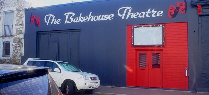 The Bakehouse Theatre - a view of the entrance doors on Cardwell Street